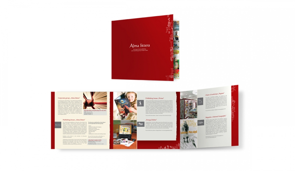 Vaidone Dabriškaite - Alma littera | reklaminio bukleto dizainas