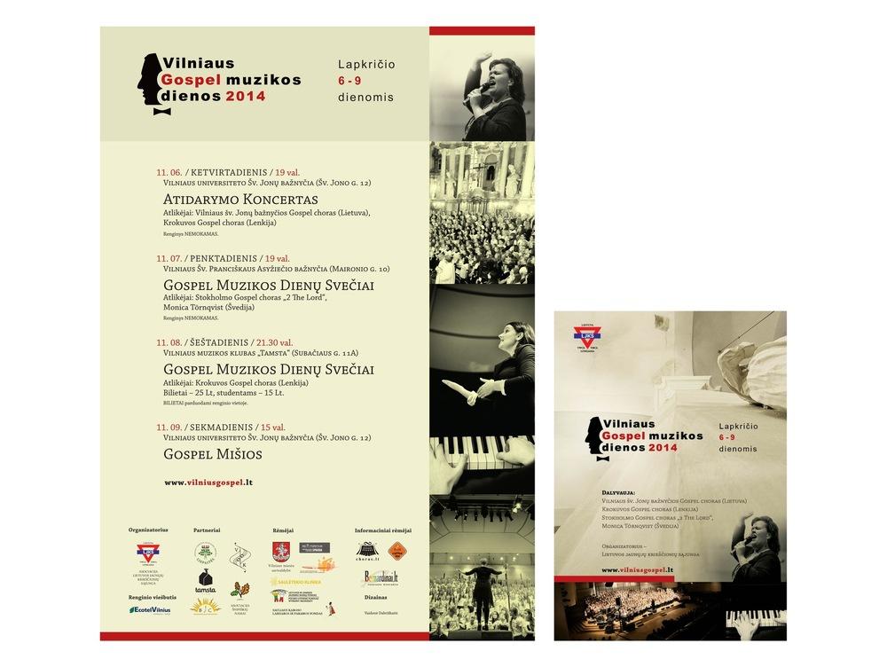 Vaidone Dabriškaite - Vilniaus Gospel Muzikos Dienos 2014 | plakatas, skrajutė