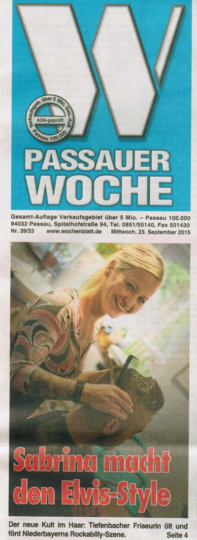 Klaus Biella Retrophoto - Veröffentlichung eines Bildes auf dem Titelbild der Passauer Woche, 23.09.2015