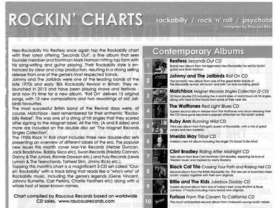 Klaus Biella Retrophoto - Die CD von Johnny & The Jailbirds mit meinem Cover ist auf Platz 2 der brit. R´n´R Charts!