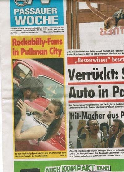Klaus Biella Retrophoto - Veröffentlichung eines Bildes auf dem Titelbild der Passauer Woche, 08.10.2014