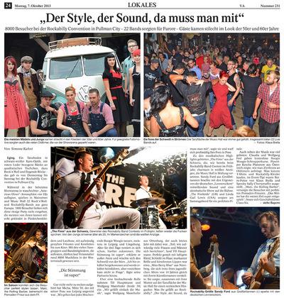 Klaus Biella Retrophoto - Veröffentlichung eines Bildes im Vilshofener Anzeiger, 07.10.2013