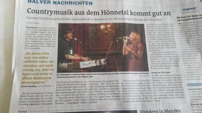 Klaus Biella Retrophoto - Veröffentlichung eines Bildes in der Westfalenpost, 01.12.2014