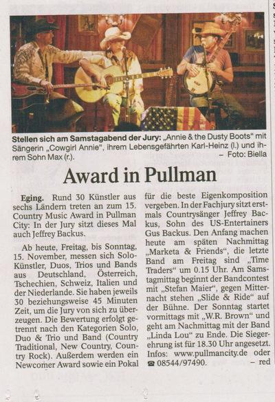 Klaus Biella Retrophoto - Veröffentlichung eines Bildes in der Passauer Neuen Presse, 13.11.2015