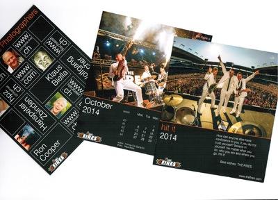 Klaus Biella Retrophoto - Veröffentlichung eines Bildes im Kalender von The Fires (CH)