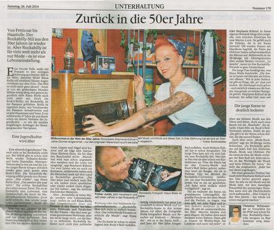 Klaus Biella Retrophoto - Artikel ÜBER den Fotografen in der Passauer Neuen Presse,26.07.2014