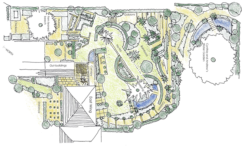 plants by design - The plan illustrates the main features of the gardens which are about 1 acre in extent