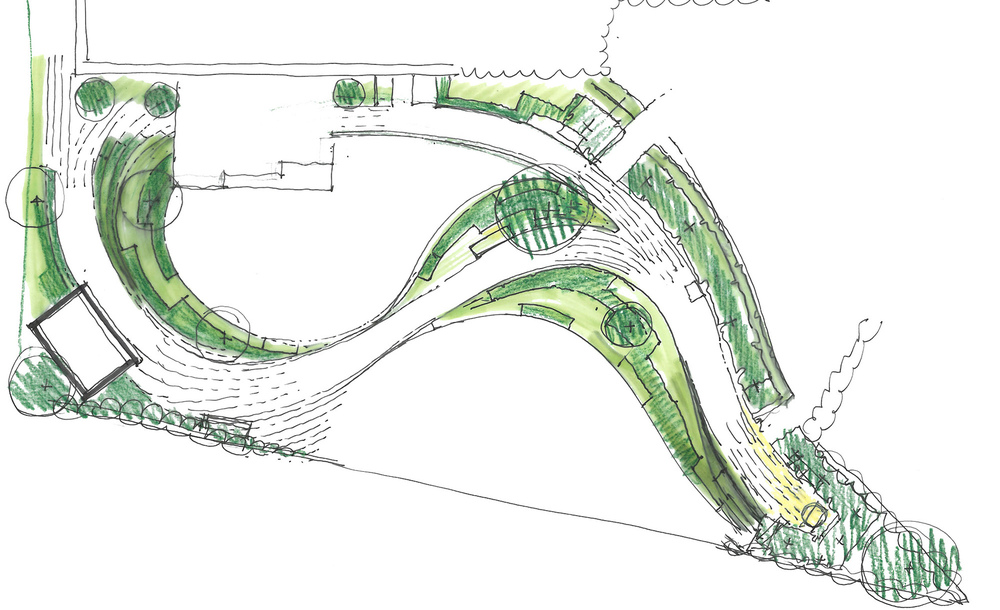 plants by design - Plan layout showing paths and planting.