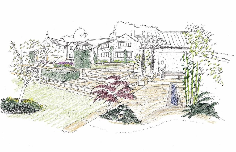 plants by design - main street Linton design sketch