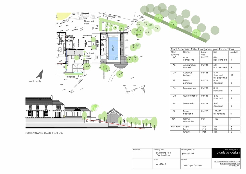 plants by design - Planting proposals around proposed swimming pool building 2016
