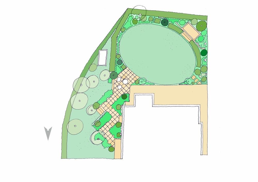 plants by design - London Garden Concept Plan 2017