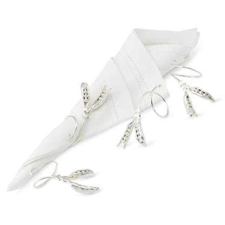 arh creative - Silver Pea Pod Napkin Holders Client: Williams Sonoma Photo: Courtesy of Williams Sonoma