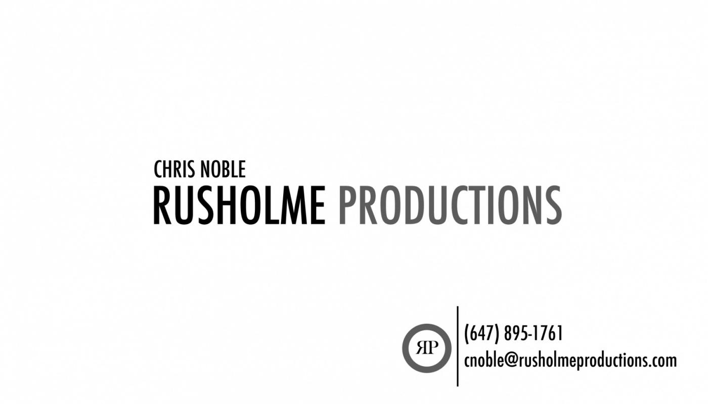 Rusholme Productions - Rusholme Productions Business Card