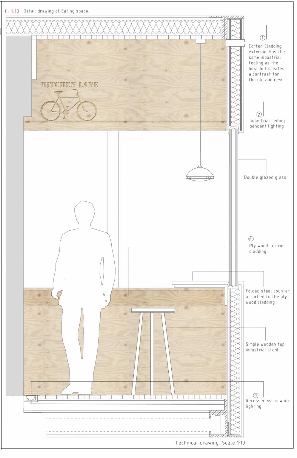 Marianne Khan Design - Detail interior section