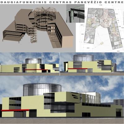 Architektas Linas Mackevičius - VDA IV kursas: Daugiafunkcinis centras Panevėžio centre
