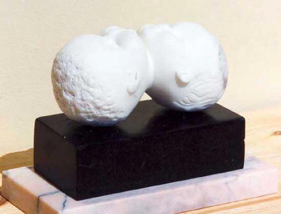 www.lenaflodman.com - Symbios, white + black marble, 1995
