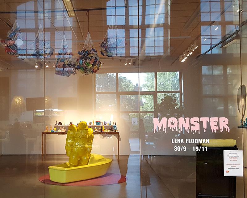 www.lenaflodman.com - Monster at Nacka konsthall, Dieselverkstaden 2017