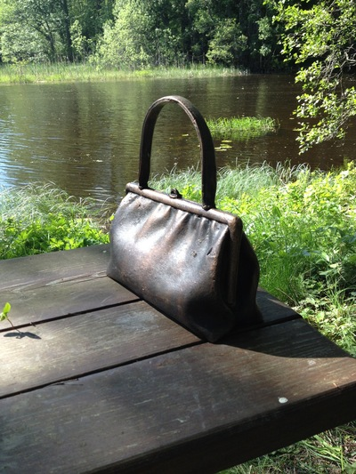 www.lenaflodman.com - Archaeological Find 12, bronze 2013 Placed in Ängelsbergs skulpturpark 7 June-28 September 2014