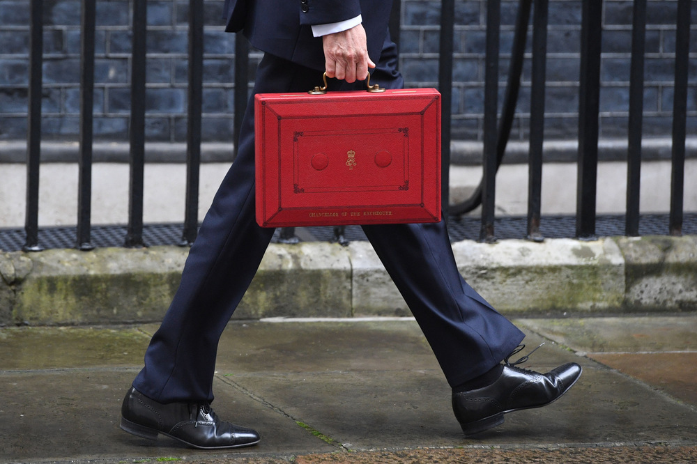 Victoria Jones Press Association Photographer - March 2017  Chancellor Philip Hammond departs 11 Downing Street, London, as he heads to the Palace of Westminster for the delivery of the Budget statement.