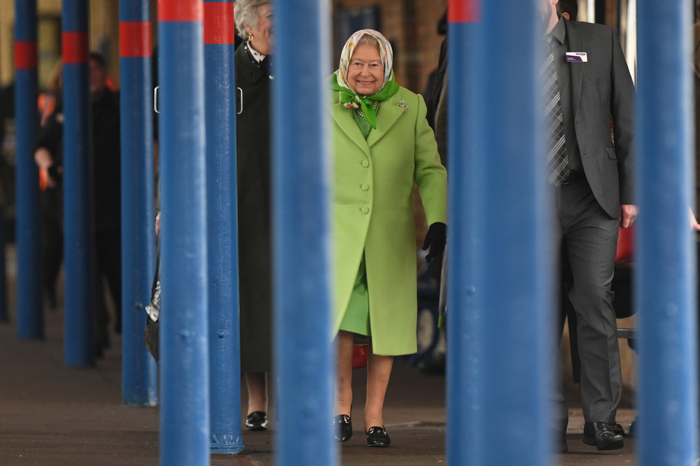 Victoria Jones Press Association Photographer - February 2017  Queen Elizabeth II walks along the platform at Kings Lynn railway station in Norfolk, as she returns to London after spending the Christmas period at Sandringham House.