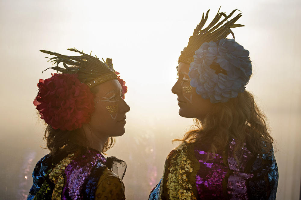 Victoria Jones Press Association Photographer - June 2017  Revellers watch the rising sun to celebrate the Summer Solstice at the top of The Shard inLondon.