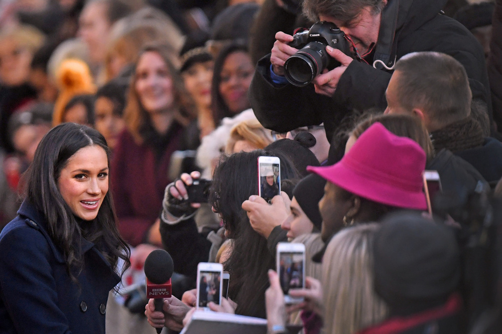Victoria Jones Press Association Photographer - December 2017  Meghan Markle arriving for a visit to the Nottingham Contemporary in Nottinghamduringherfirst official engagement with Prince Harry.