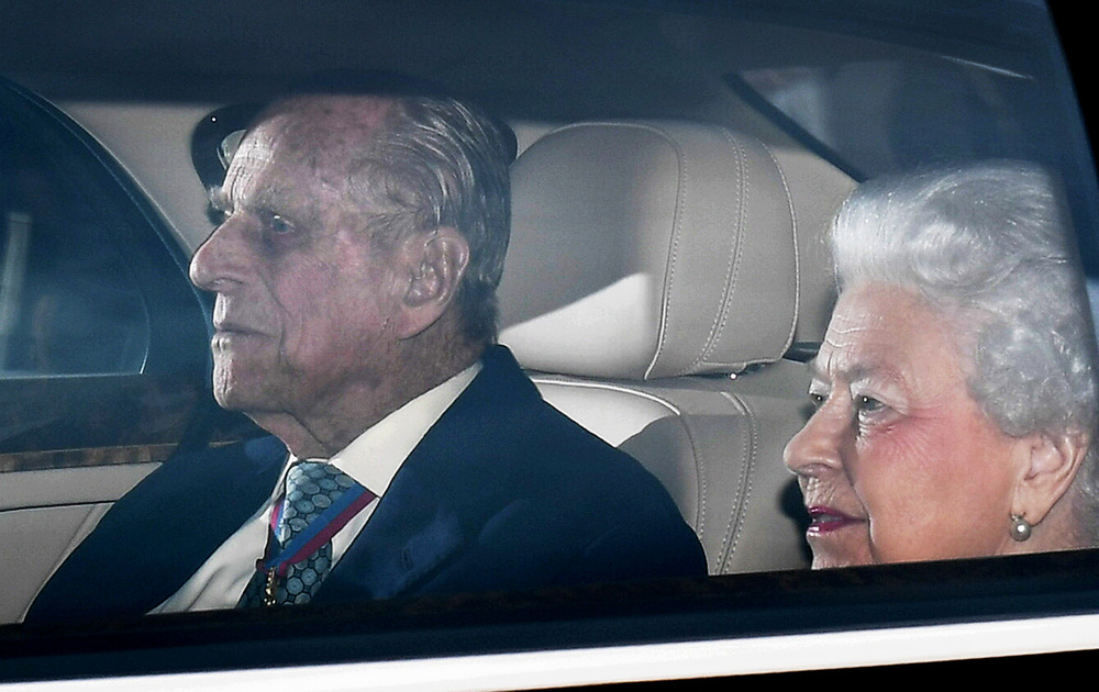 Victoria Jones Press Association Photographer - May 2017  Queen Elizabeth II and the Duke of Edinburgh arriving at Buckingham Palace, London, after the Duke of Edinburgh announcesthat he intends to retire from official duties.