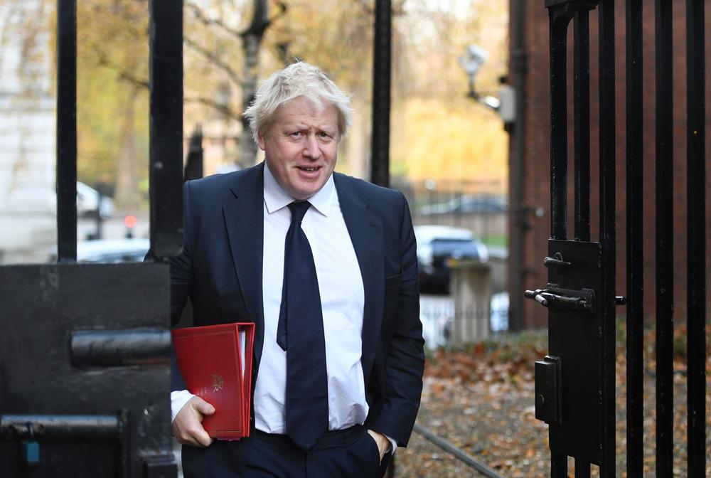 Victoria Jones Press Association Photographer - November 2017  Foreign Secretary Boris Johnson arriving in Downing Street, London, for a Cabinet meeting.