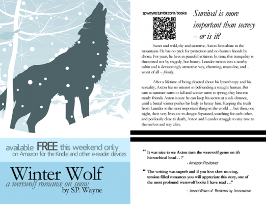 T.K. Hunter - Custom eBook Cover Designer - Winter Wolf flyer.