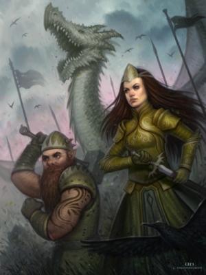 David Hakobian: Illustration & Concept Art - Princess Eleedrien Leading The Battle