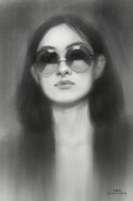 David Hakobian: Illustration & Concept Art - Portrait sketch 2