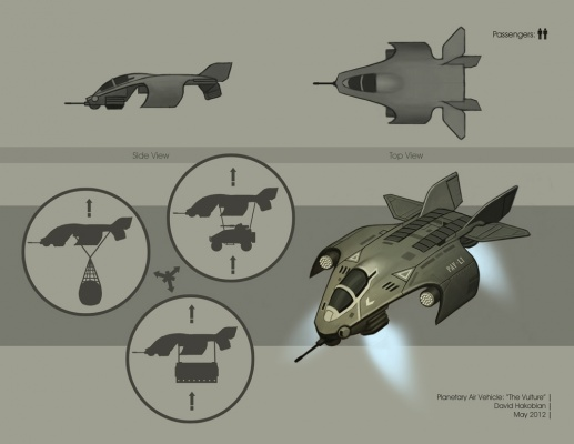 David Hakobian: Illustration & Concept Art - Planetary Air Vehicle