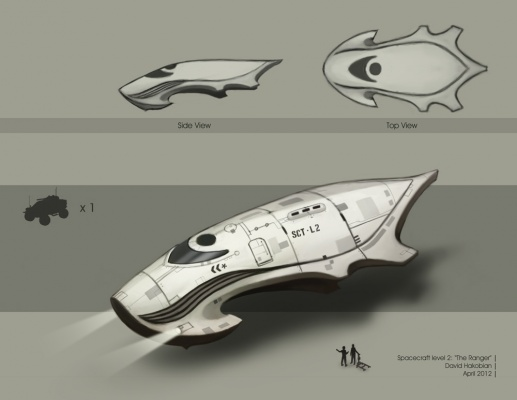 David Hakobian: Illustration & Concept Art - Spacecraft level 2