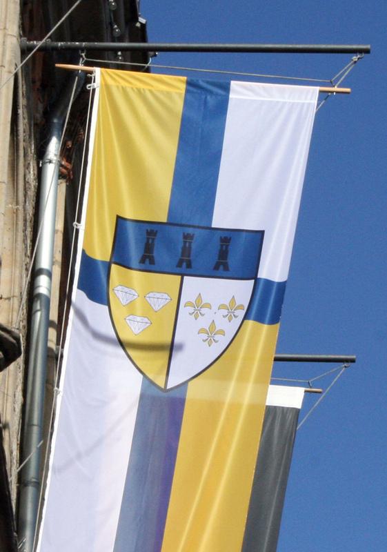 Philipp Valenta - Detail des Wappens auf der Flagge