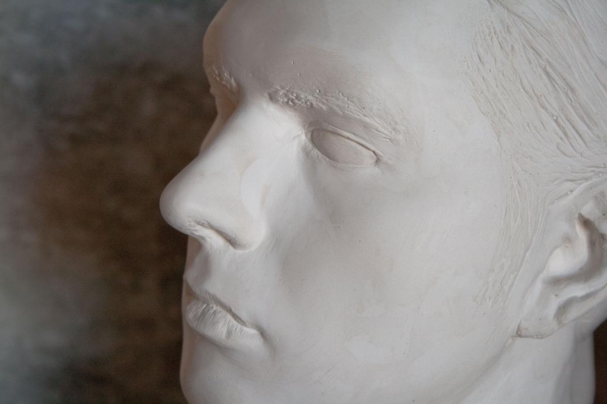 Philipp Valenta - Detail der Büste