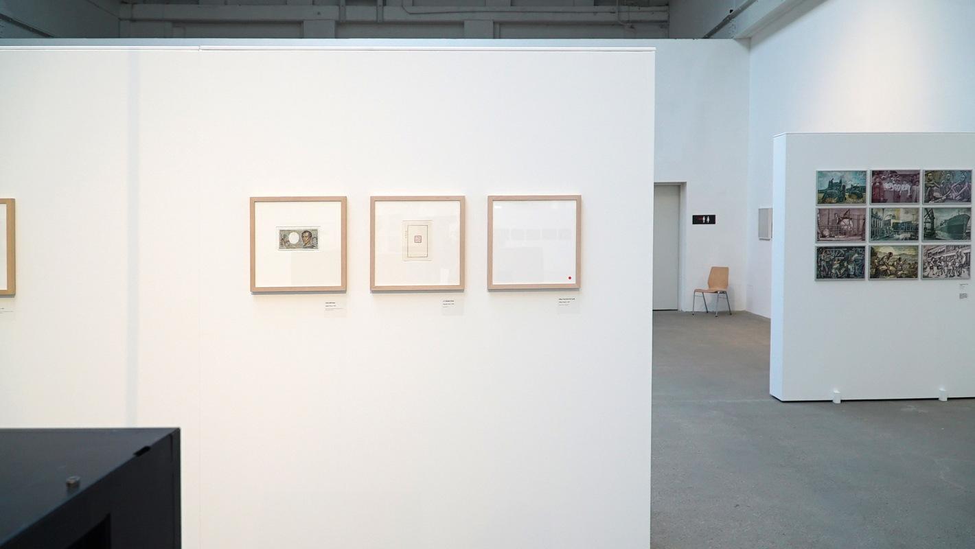 Philipp Valenta - Arbeit Sammlung Haupt, Ausstellungsansicht GELD - WAHN - SINN, Stiftung Reinbeckhallen, Berlin