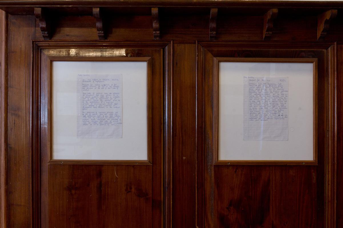 Philipp Valenta - Ausstellungsansicht These - Antithese, Museum Schloss Burgk