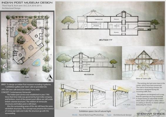 Perfect Shekhar Shinde Architectural Portfolio   Mudeum And Cafe Design