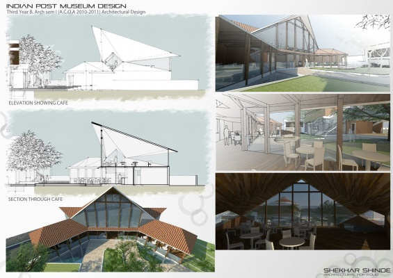 Shekhar Shinde Architectural Portfolio   Mudeum And Cafe Design