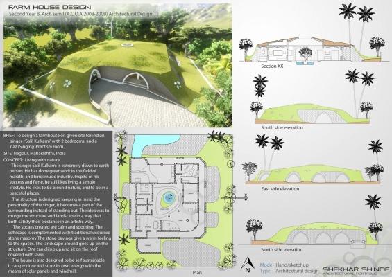Shekhar Shinde Architectural Portfolio   Farmhouse Design