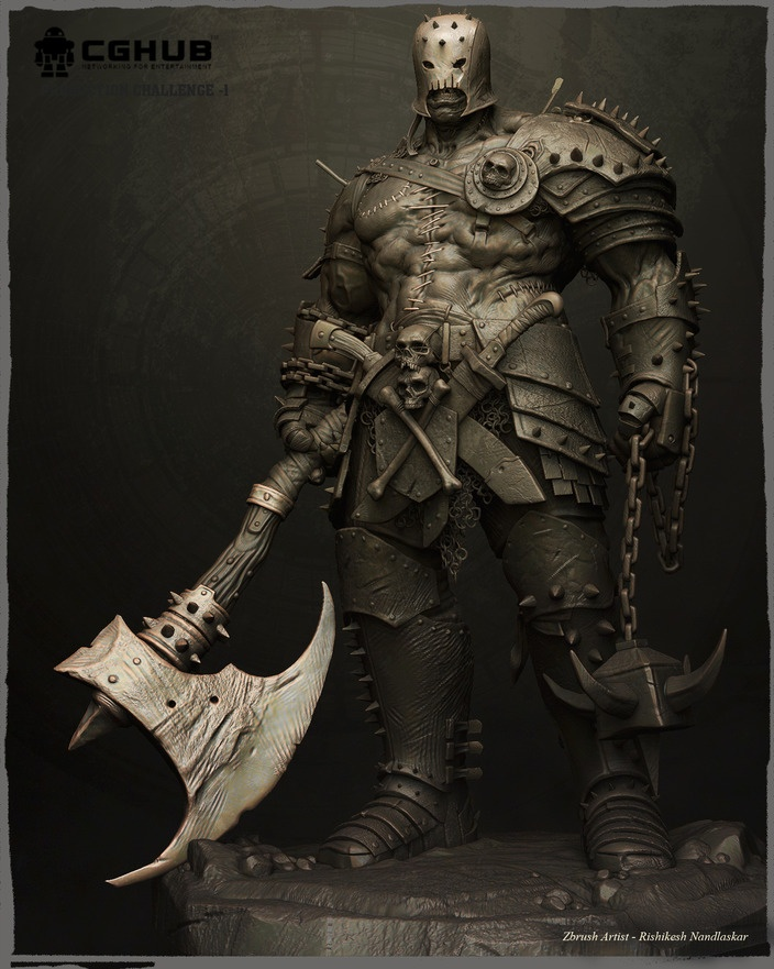 NANDLASKAR- DIGITAL SCULPTOR - Frankenstein Warrior-CgHub Challenge-I winner