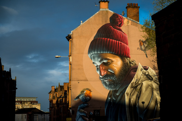 Steven Parker Photography - York based photographer - Beloved St Mungo wall art by Smug One Glasgow