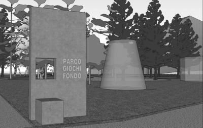 Pallaoro Balzan e Associati - Progetto preliminare per la sistemazione del parco giochi di Fondo, Trento