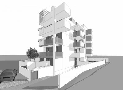 Pallaoro Balzan e Associati - Progetto preliminare, definitivo ed esecutivo per edificio residenziale, via Gramsci/Einaudi, Trento