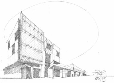 Pallaoro Balzan e Associati - Progetto edificio industriale, Loc. Palazzine, Gardolo, Trento