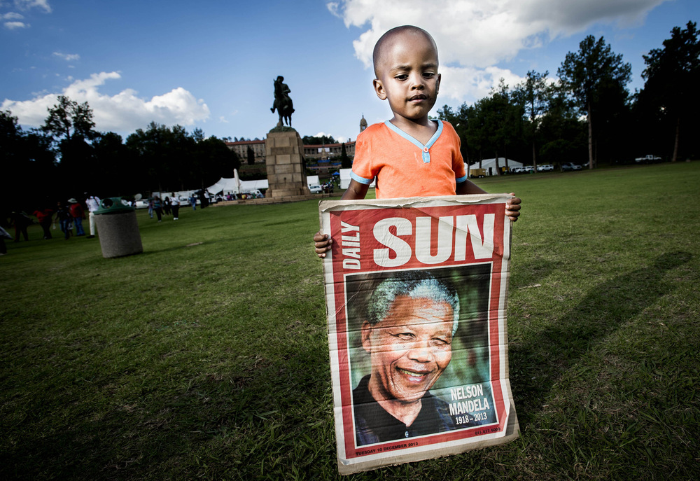 John T. Pedersen Photography - 2013 Nelson Mandela has passed away, Pretoria.