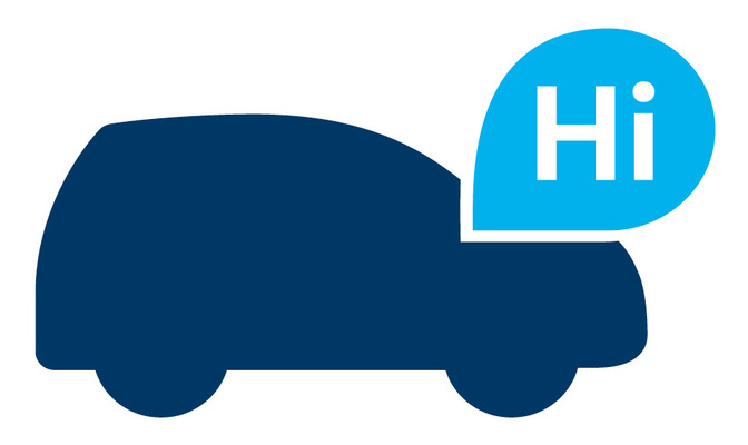 Laura Bender Design Portfolio - Logo für Volkswagen Beacon Technologie