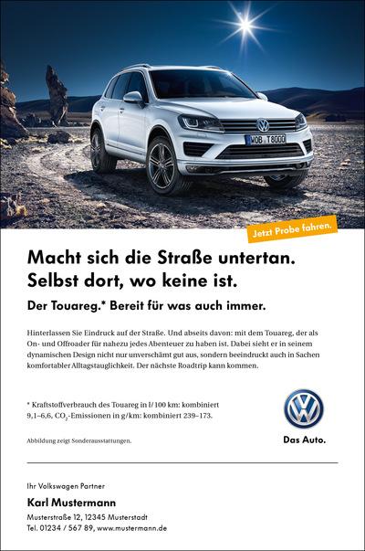 Laura Bender Design Portfolio - Volkswagen Touareg Handelskampagne 2014
