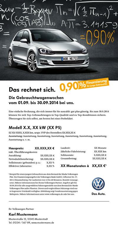 Laura Bender Design Portfolio - Volkswagen Handelskampagne Gebrauchtwagenwochen September 2014 Route