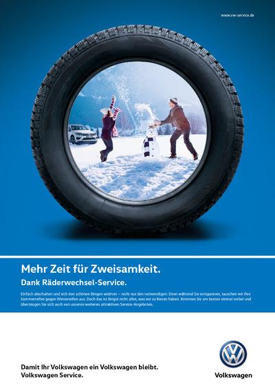 Laura Bender Design Portfolio - Volkswagen Service Räder/Reifen Kampagne 2016